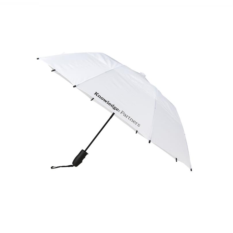 Knowledge: Partners White Folding Umbrella