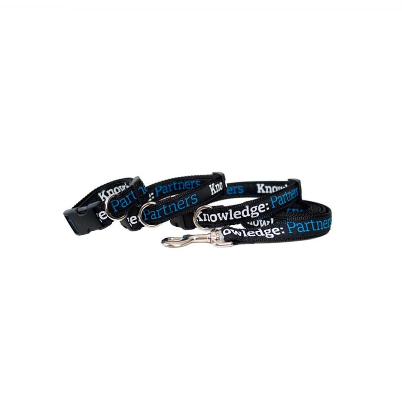 Knowledge: Partners Dog Collar & Leash/SIZE MEDIUM